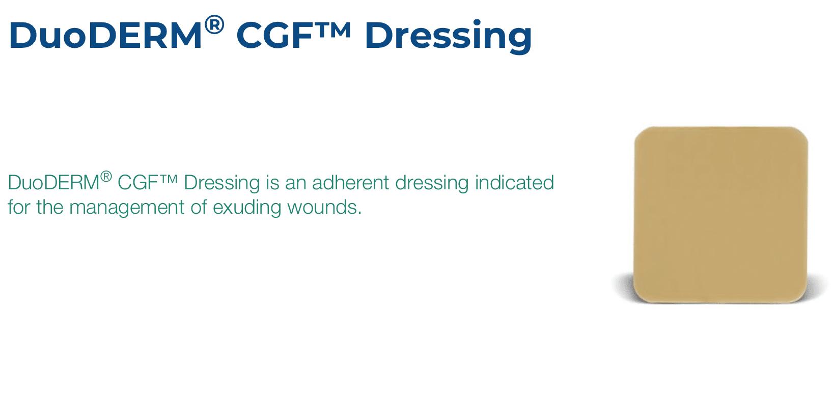 ConvaTec DuoDERM CGF Wound Dressing   Inner Good   USA